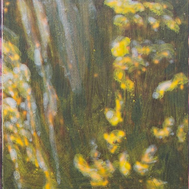 """Panel 04 - the forest is often a part of my works. This mixed media work (print and acryl) is a detail of Albrecht Altdorfer """"Saint George and the dragon"""". The whole thing is made of 6x4 panels - but i like the details so i post 6 of them in closeup.  #contemporyart #art #painting #albrechtaltdorfer #mixedmedia #acryl"""