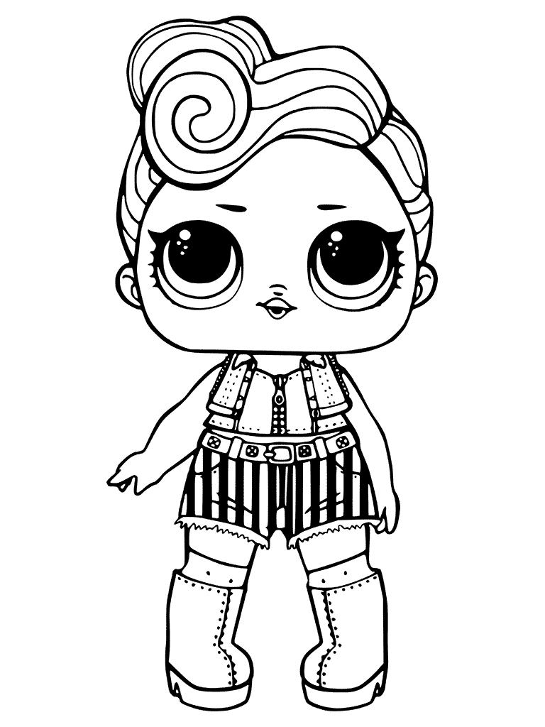 Раскраски «Куклы LOL» - «Кукла ЛОЛ рокерша крутышка ...