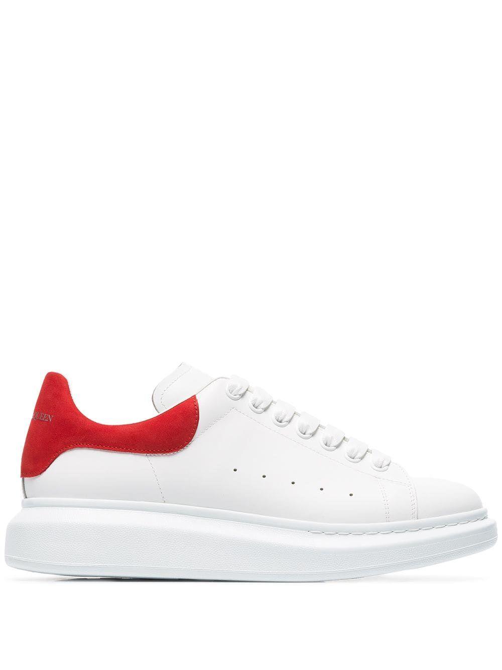 c66ed2999c17 ALEXANDER MCQUEEN ALEXANDER MCQUEEN WHITE CHUNKY LEATHER LOW-TOP SNEAKERS.   alexandermcqueen  shoes