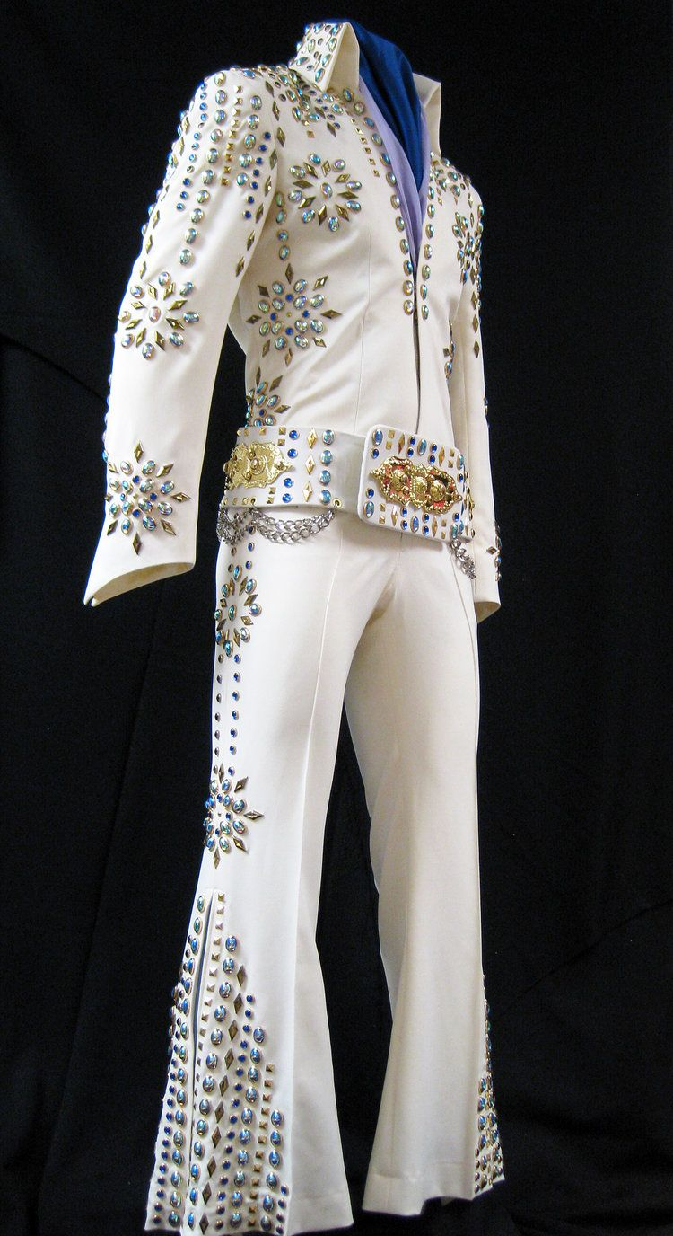 ELVIS BLACK AND GOLD FANCY DRESS COSTUME MENS MUSIC