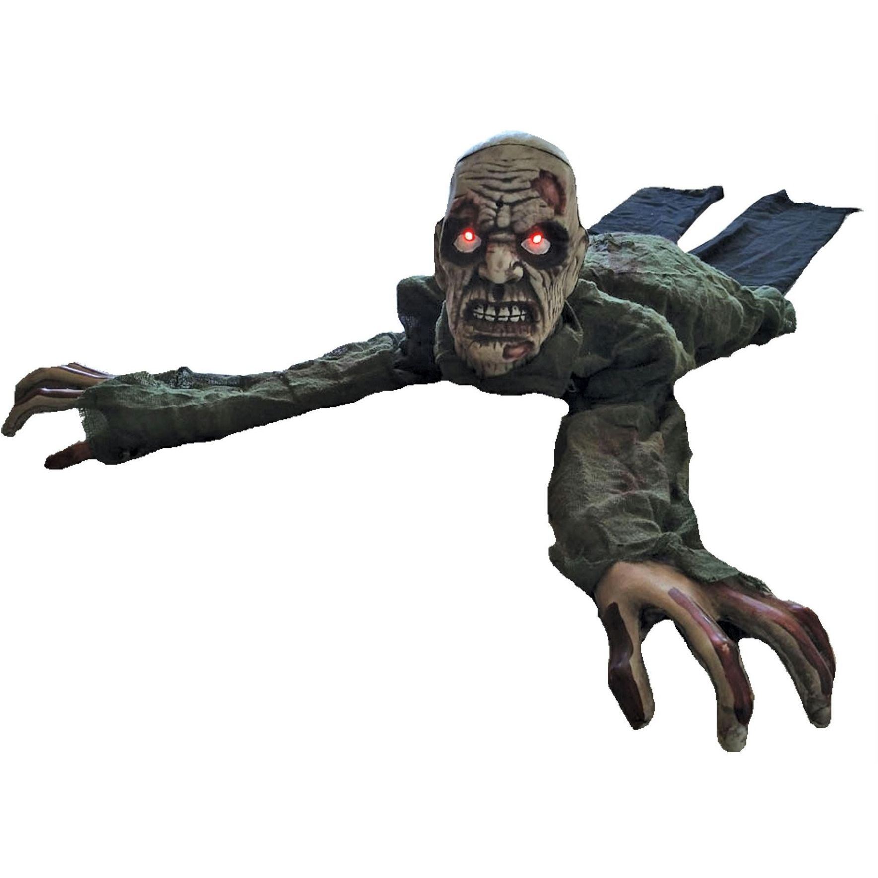 Crawling Zombie Animated Animated halloween props, Scary