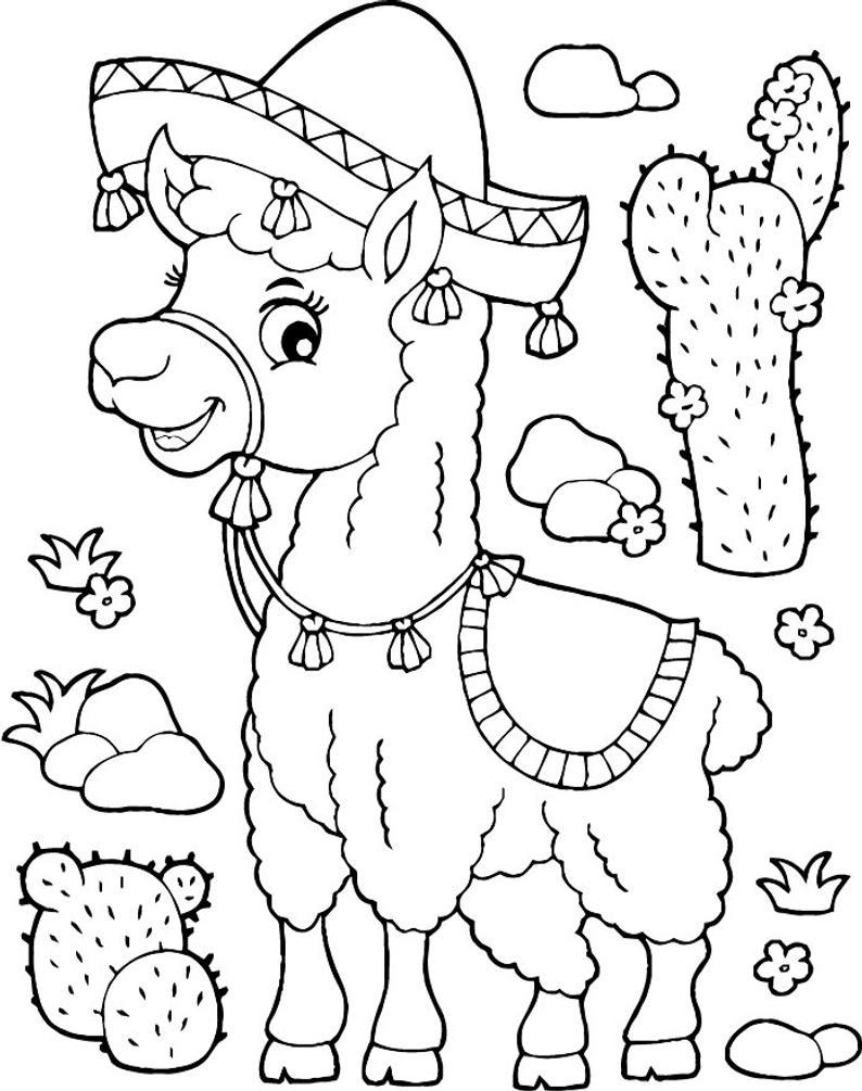 Pin On Llamas Coloring Pages