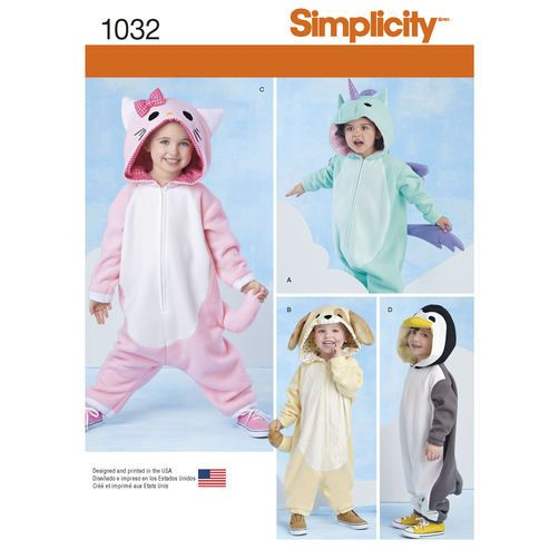Sewing Pattern for Toddlers Plush Animal Costumes, Halloween ...