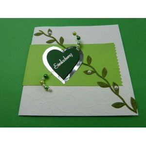 Einzigartige Einladungskarten Hochzeit Selber Basteln | Besonders Schöne  Hochzeitskarten Selber Basteln In Einem Herrlichen Grün.