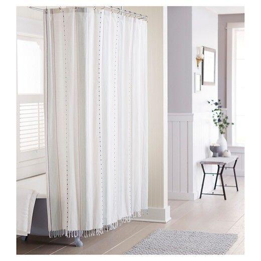 Shower Curtain Fringe Green