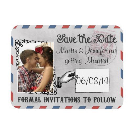 Custom Save The Date Wedding Chalkboard Magnet
