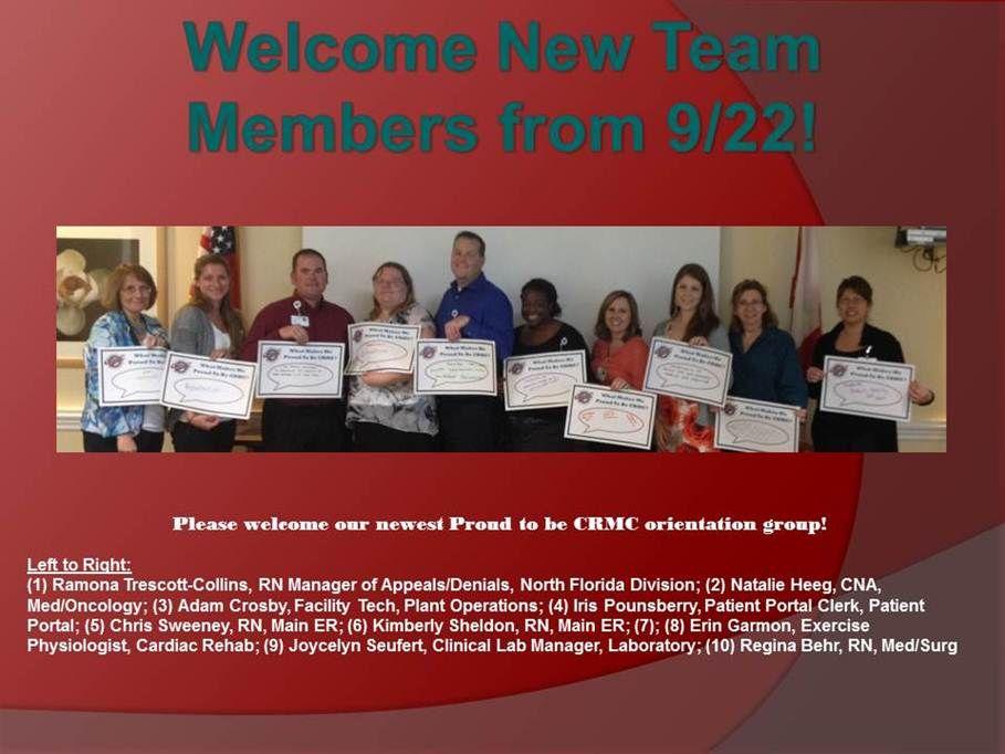 New team members from 92214 team member