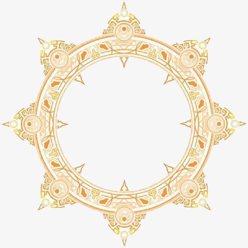 Traditional Decorative Motifs Yellow Decoration Linear Png Image Spell Circle Magic Circle Magic Circle Crochet