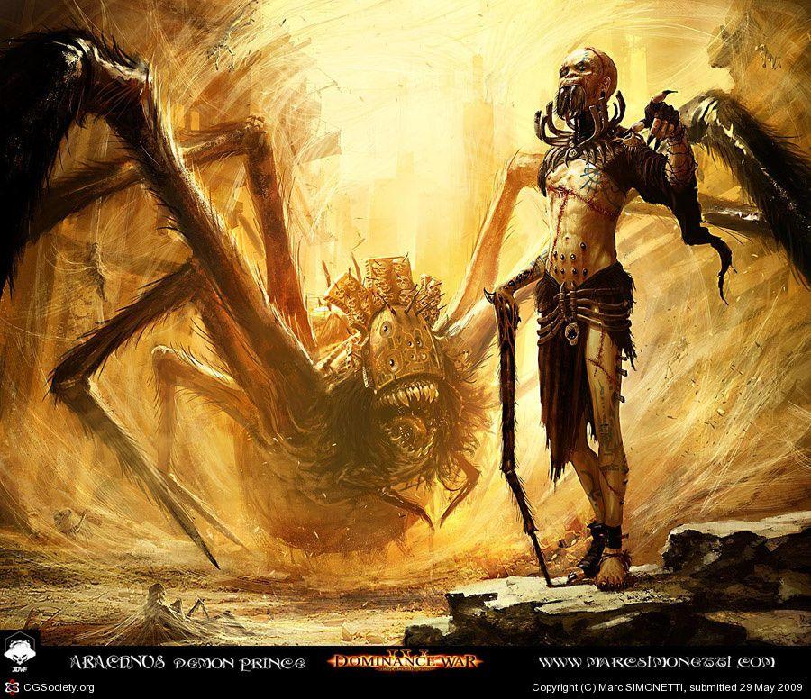 Arachnus demon prince: My DW IV entry by Marc SIMONETTI | 2D | CGSociety