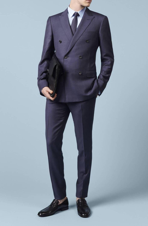 Men s Slim Suits 2015 Handwork Business Young Man Bespoke Mens Suit ...