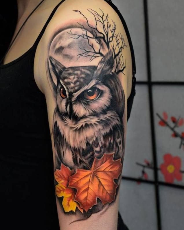 50 Beautiful Compass Tattoo Designs And Meanings: 50 Of The Most Beautiful Owl Tattoo Designs And Their