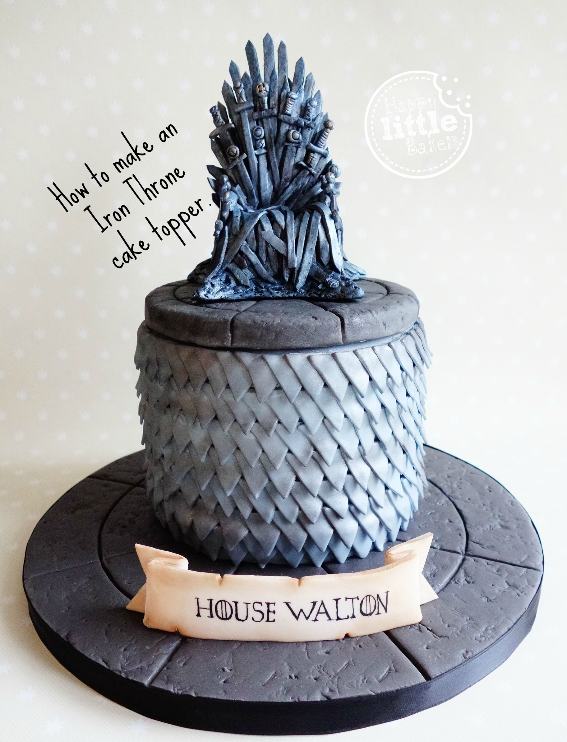 How To Make A Game Of Thrones Iron Throne Cake Topper Caketutorial