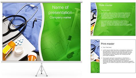 Nursing Powerpoint Designs  Stethoscope And Medication Powerpoint