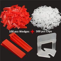 400pcs Tile Leveling Plastic Spacers Tiling Clips Wedges Tools Tile Leveling System Tiling Tools Plastic Tile