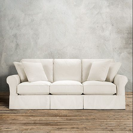 Exceptionnel Handcrafted In America, The Arhaus Baldwin Slipcovered Sofa With 3 Cushions  In Eggshell White Features A Steady Frame U0026 Washable Slipcover.