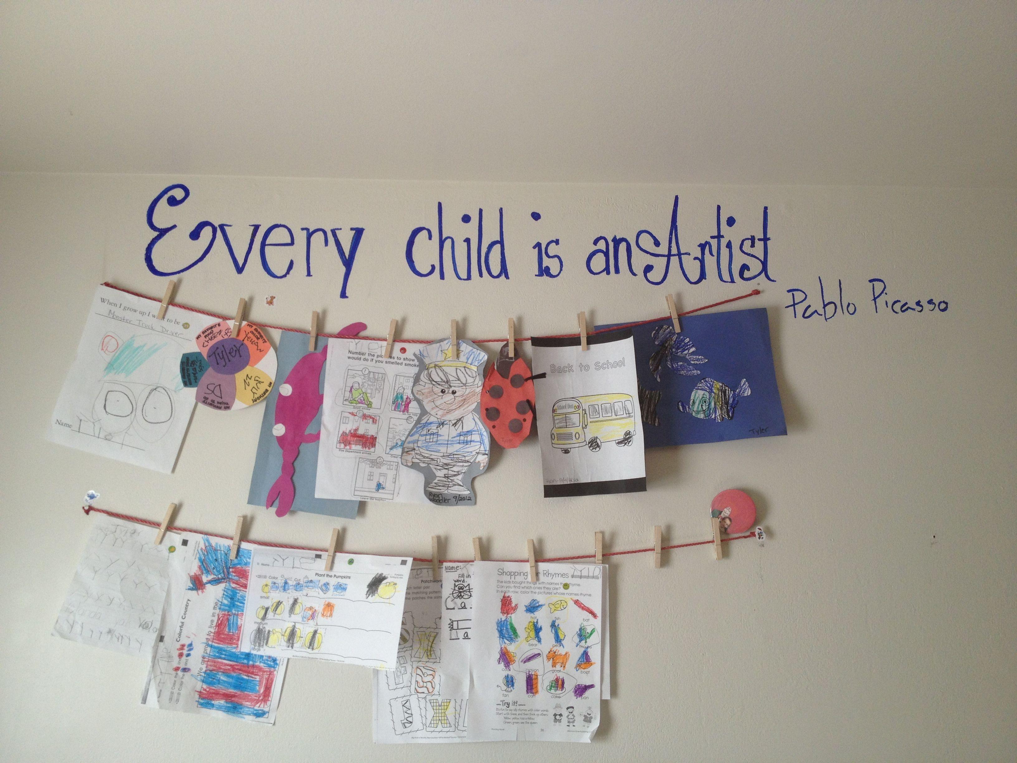Display Kids Art Work
