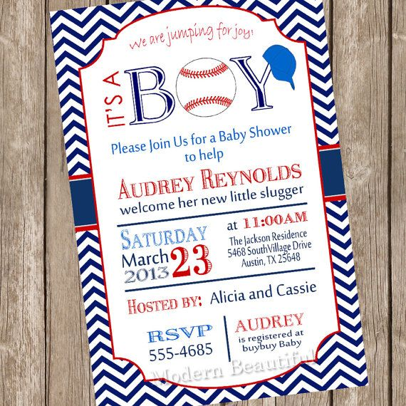 Chevron its a boy baseball baby shower invitation red blue chevron its a boy baseball baby shower invitation red blue baseball printable invitation baseball1 filmwisefo Images