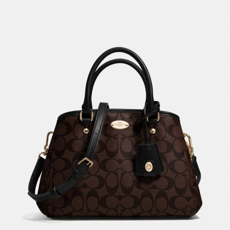 a82523bb Coach Signature Mini Margot Carryall F34605 Brown/Black Leather ...