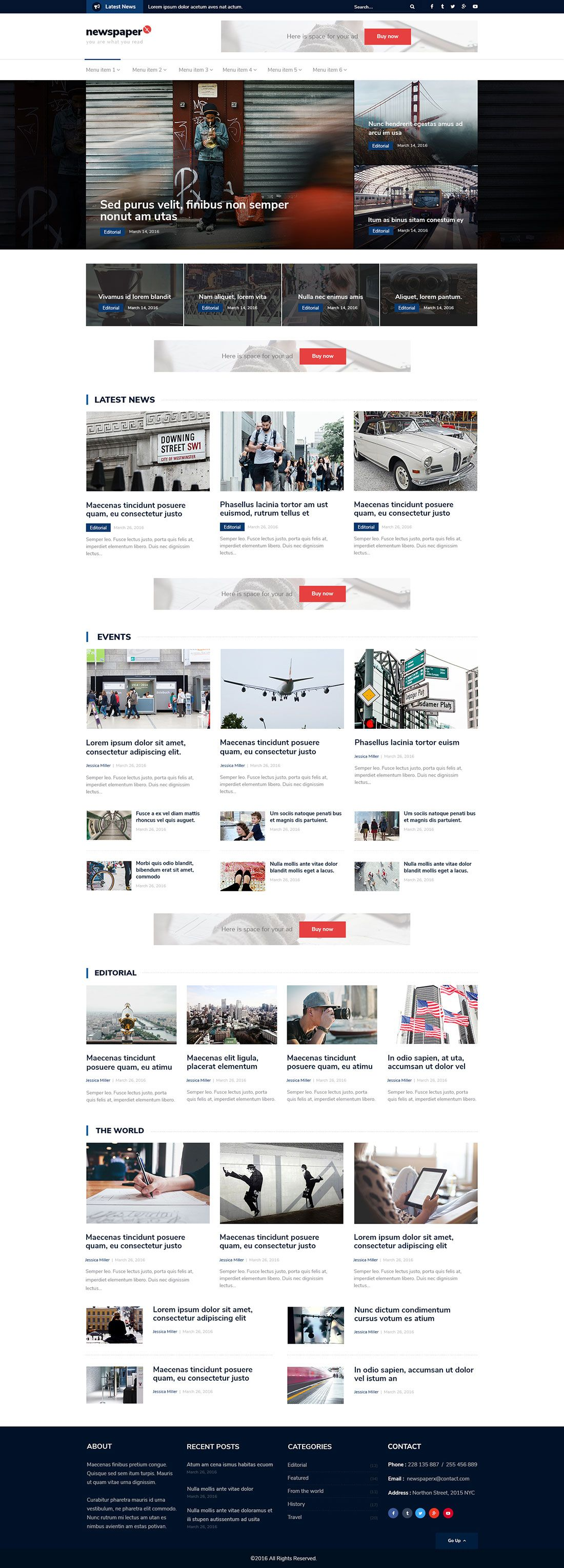 Newspaper X Popular Magazine Wordpress Theme Colorlib Free