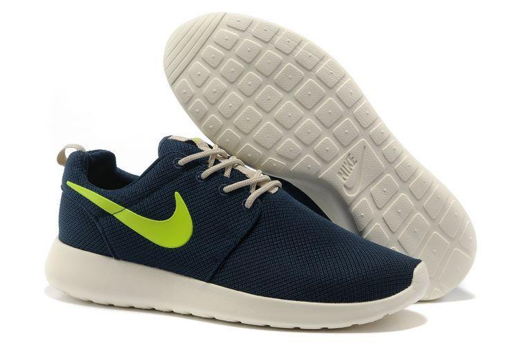 Roshe Trainers Hombre Sombres Azul Verde Zapatillas ...