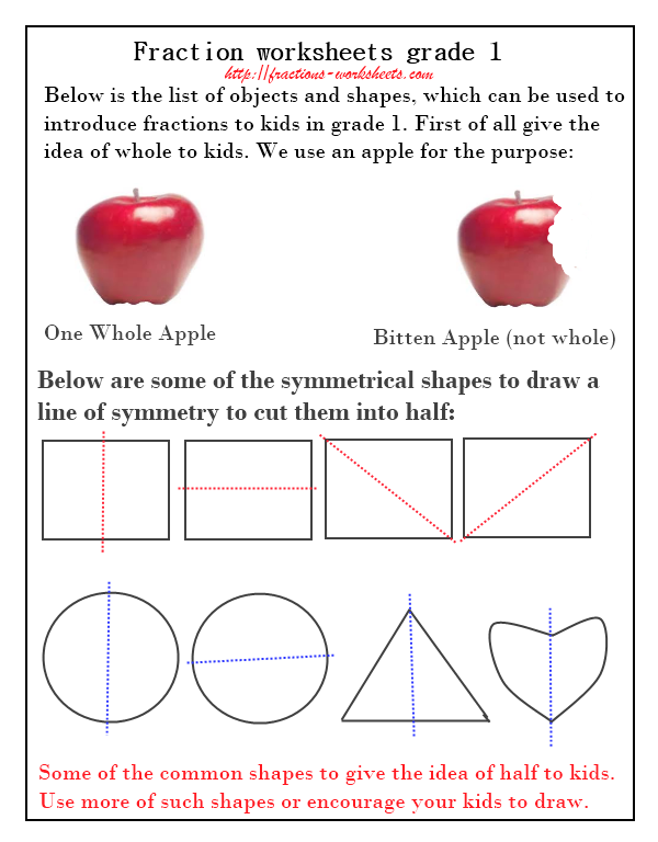 Printables Introduction To Fractions Worksheets introduction to fractions worksheet davezan printables worksheets safarmediapps
