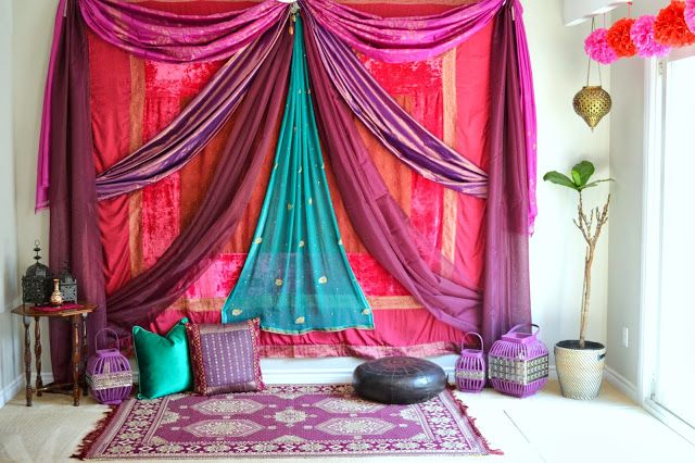 Idea For All My Sari Fabric Per Previous Pinner Beautiful Indian Room