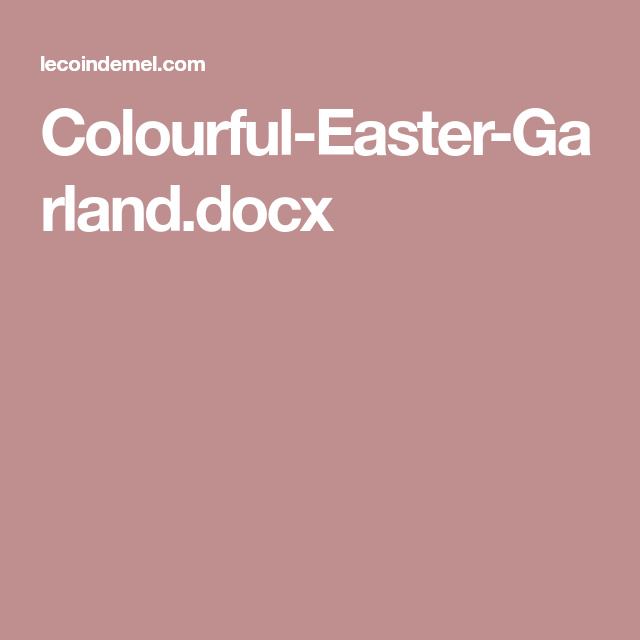 Funky Bunny Garland for Easter (& a Free Template) | Garlands ...