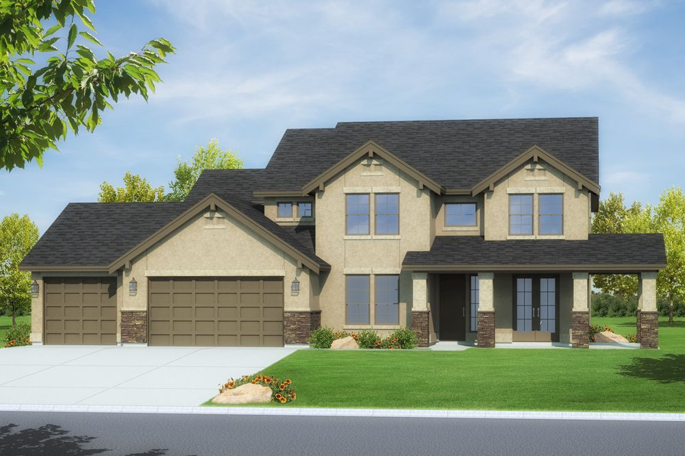 Beautiful house rendering done by Brad Easterday