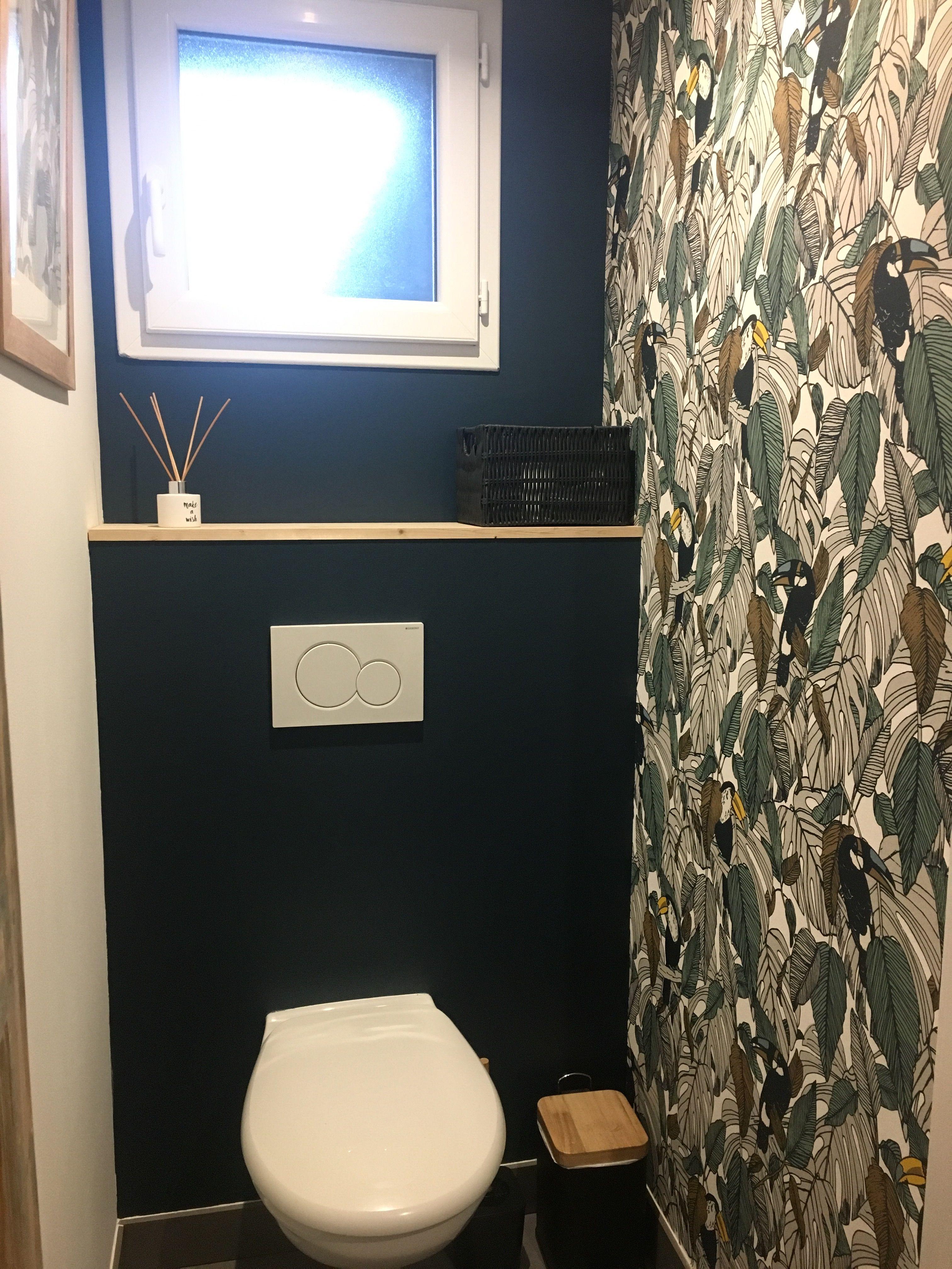 decoration wc suspendus peinture