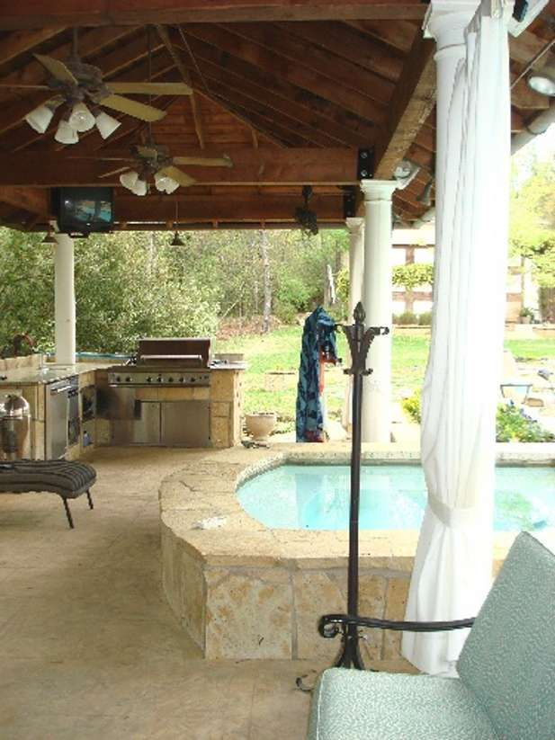 Luxurious Cabana - the spa being slightly covered | Outdoor ... on small garden spa, outdoor swimming pool with spa, backyard spa,