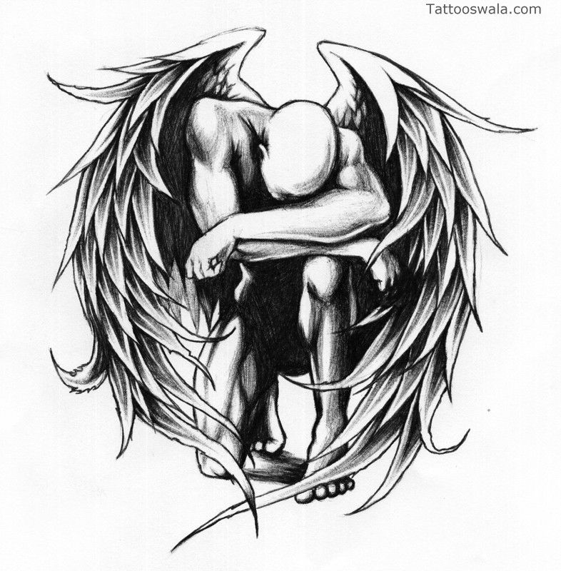 Crying angel tattoo designs a collection of popular and