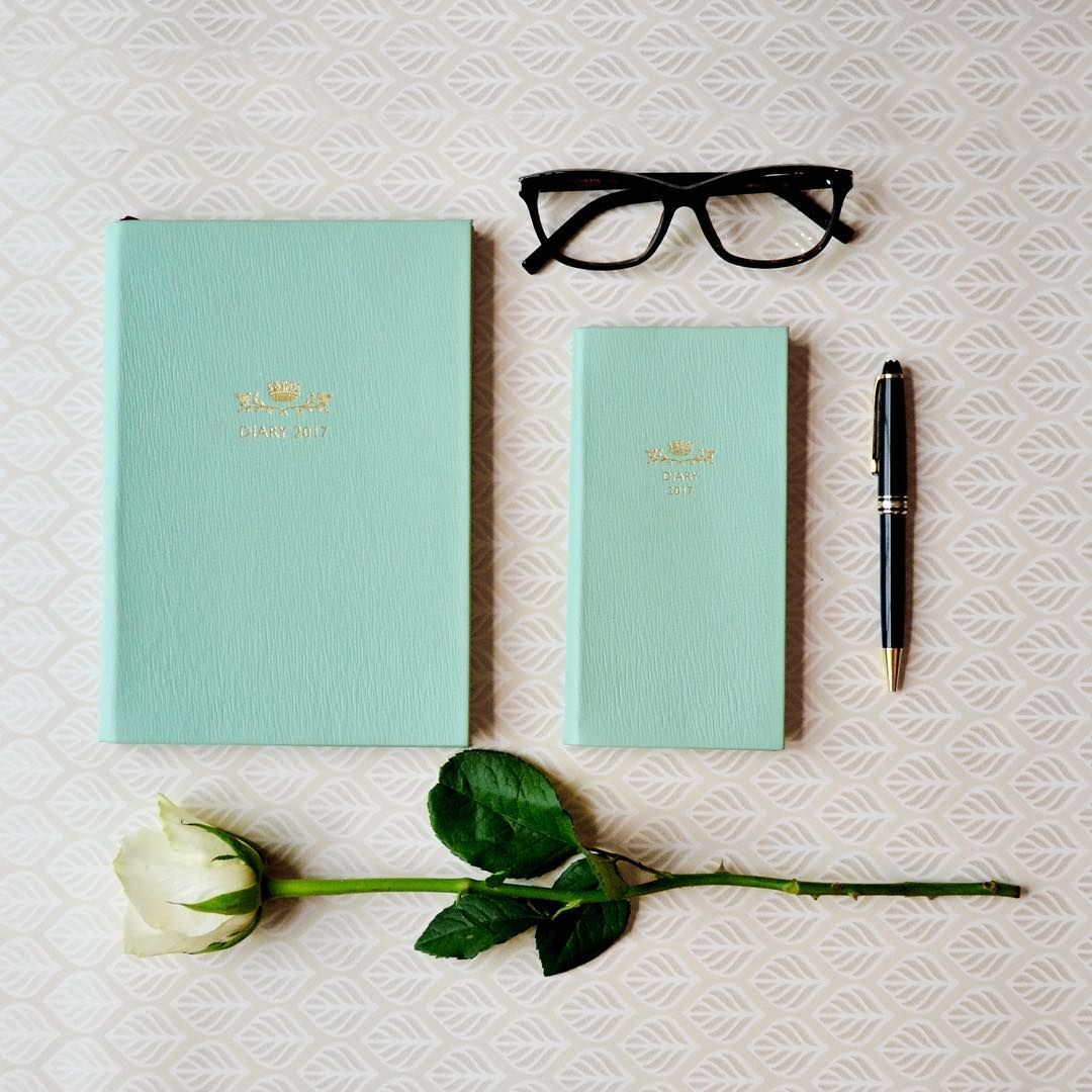 Eton Blue for all occasions – shop now at www.debretts.com [link in bio] #2017 #diary #diaries #madeinengland #leather #bestofbritish #flatlay #style #design #flowers #instaflowers #instadaily