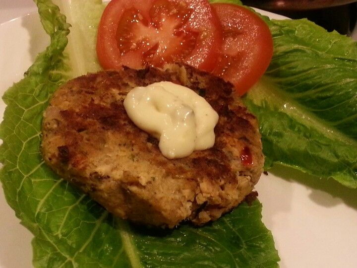 Salmon cakes-Lightened Up! This is a pic of my result, and they were great!