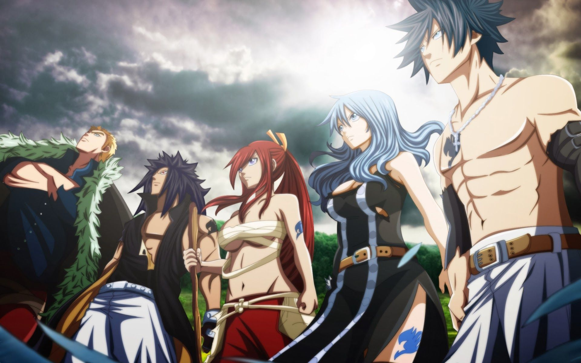 gray fullbuster and juvia lockser | ... gajeel redfox erza ...
