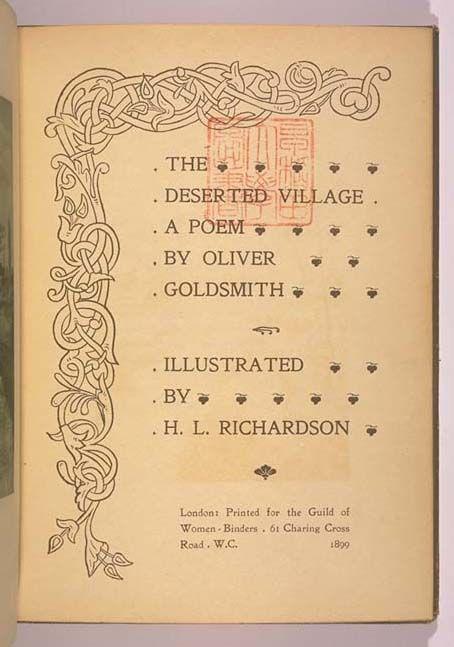 the deserted village poem