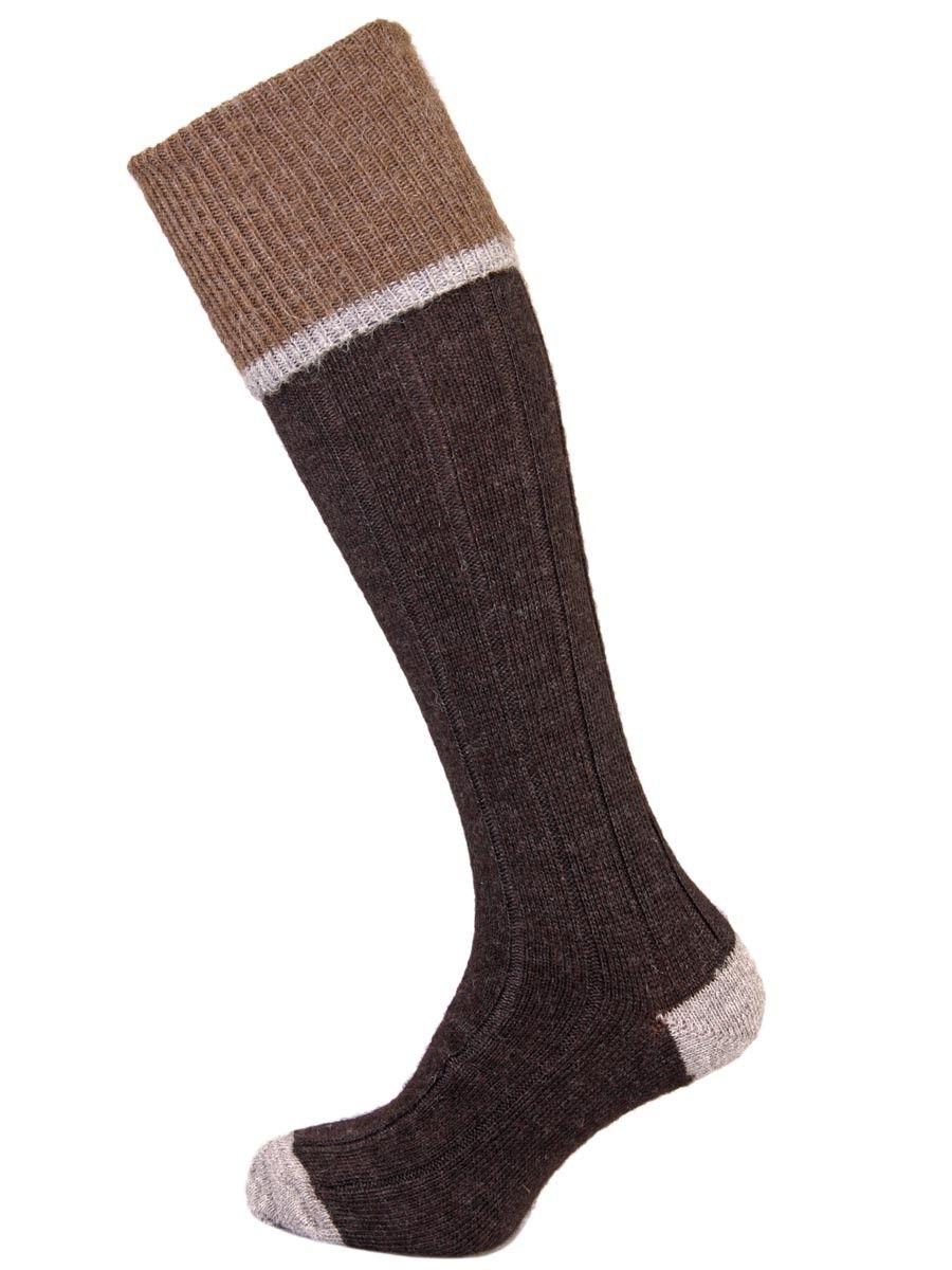 The Easton Luxury Alpaca Shooting Sock - Charcoal