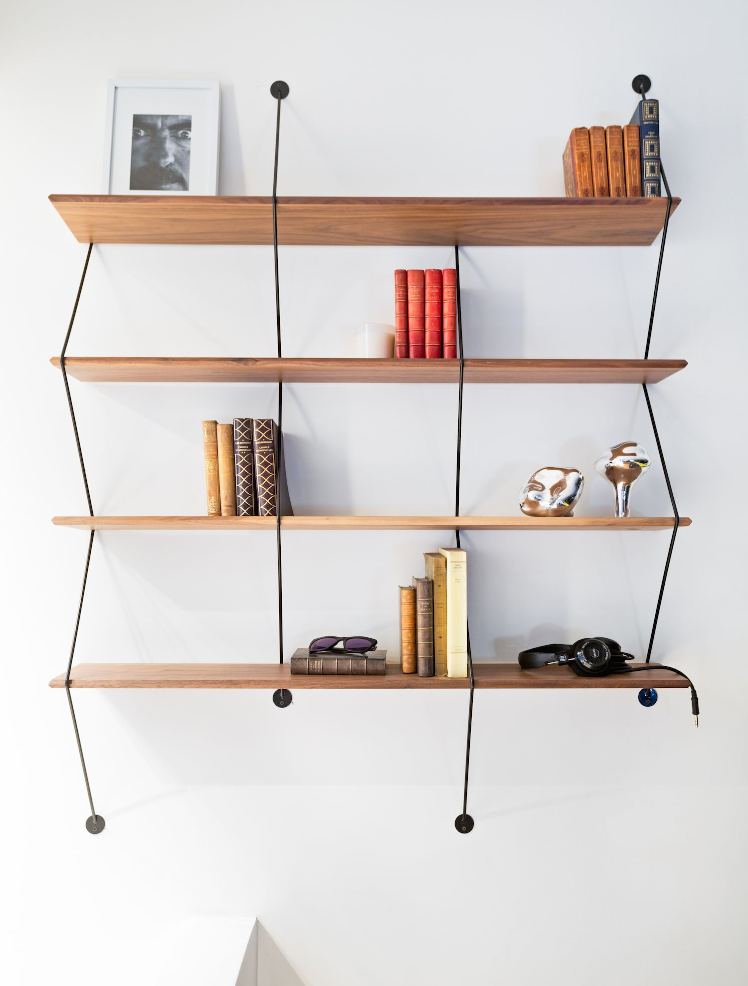 La Chance office & Showroom - the Climb shelf holding precious books - photo Felix Forest - www.lachance.fr