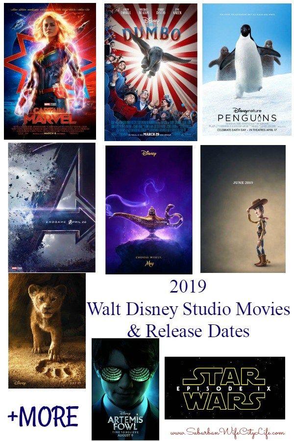 2019 Walt Disney Studios Movies and Release Dates Walt