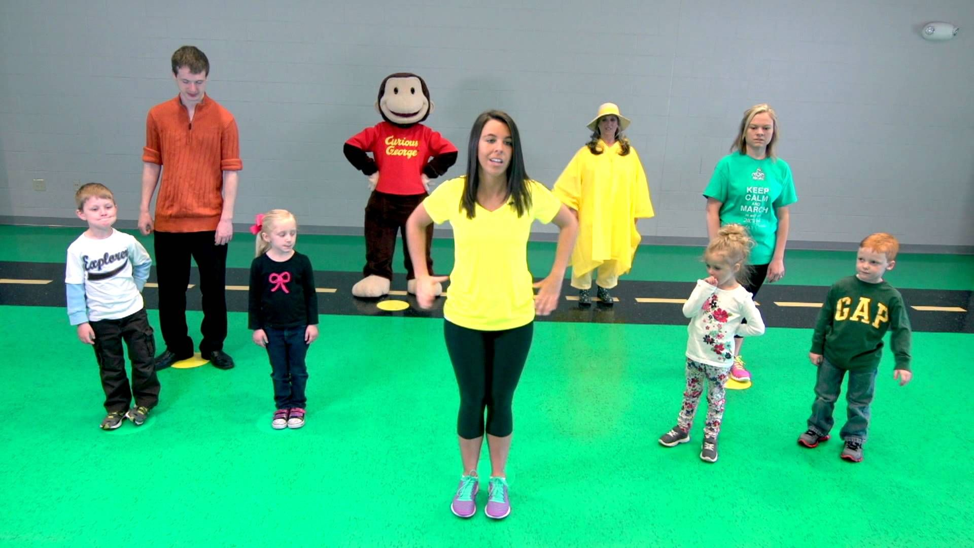 Preschool Curious George Book And Workout Video