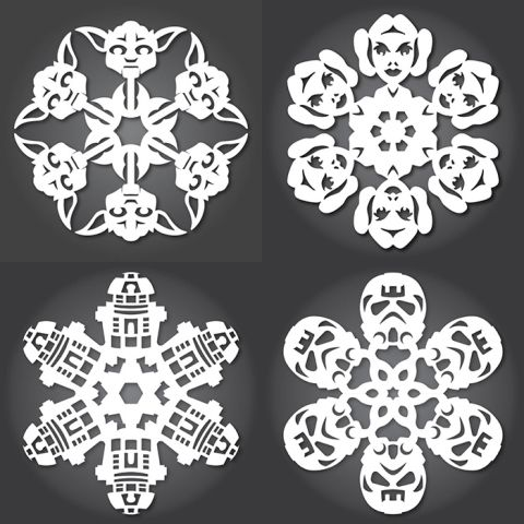free star wars snowflake templates dozens christmas pinterest weihnachten basteln. Black Bedroom Furniture Sets. Home Design Ideas