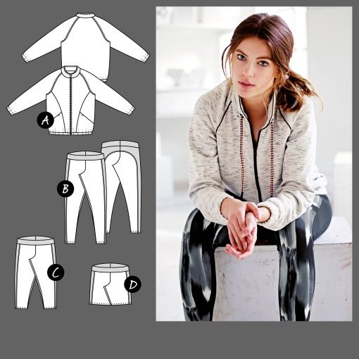 Sewing Pattern for sports jacket 15% DISCOUNT CODE ...
