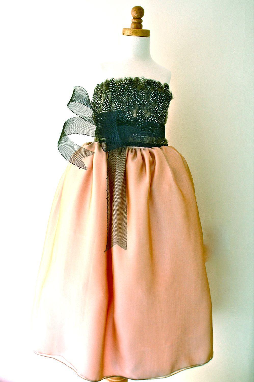 Blush pink girl dress  Degas Flower Girl Dress Blush Pink Ball Gown Length With Horse