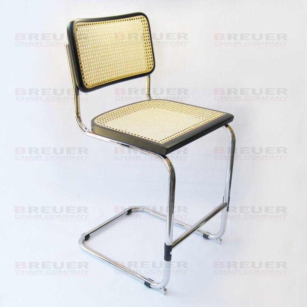 cesca chair replacement seats uk back support pillow for office breuer company bar stool in chrome with cane seat and