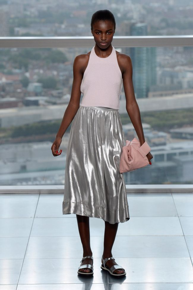 High shine and soft pink at Whistles SS14 (Picture: Whistles)
