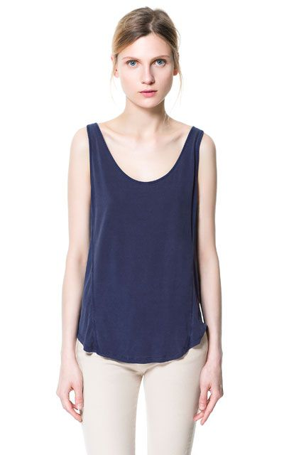 Image 2 of FADED VEST TOP from Zara