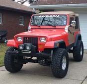 It Has A 4 Inch Suspension Lift 1 Inch Body Lift 35 Inch Tires Aussie Locker Pinteres Jeep Yj Jeep Wrangler Yj Jeep