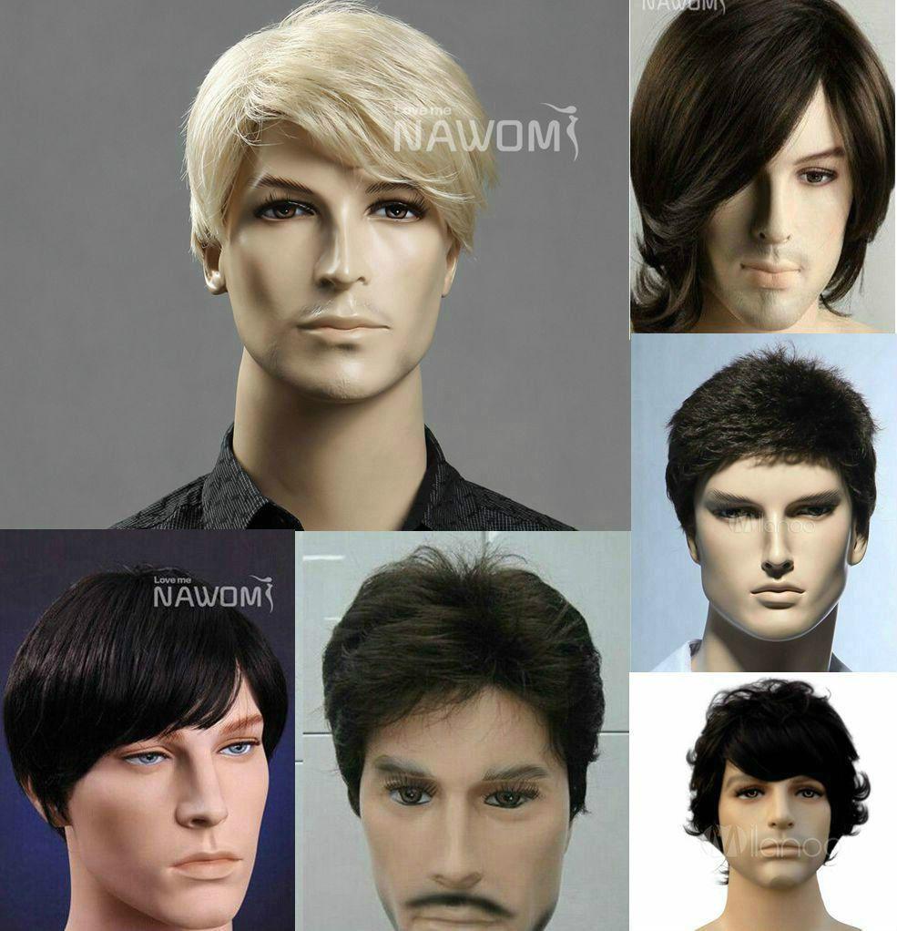 Handsome menus short wig casual brown blonde black choose buy