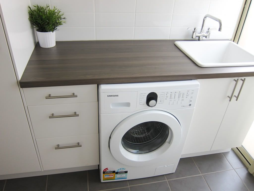 Very Small Laundry Room Laundry Reno Diy Only 1500 Total And A Very Clever Hubby Home