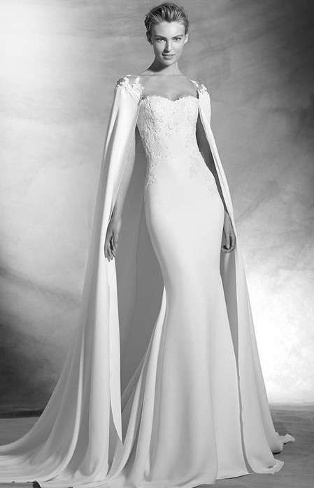 Tendencias de boda 2017: Vestidos de novia con capa [FOTOS ...