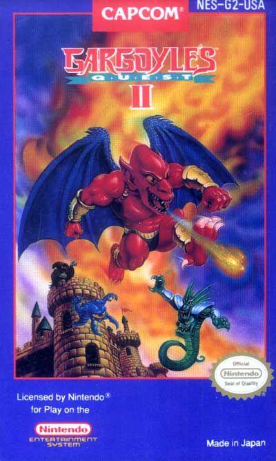 Gargoyle S Quest Ii Nes Capcom 1992 Classic Nintendo Games Classic Video Games Retro Gaming Art